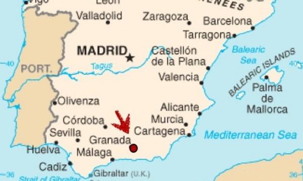 granada spain map