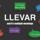 Using the Spanish verb LLEVAR in context