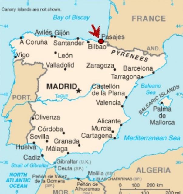 Bilbao Spain Map BILBAO SPAIN MAP   Imsa Kolese