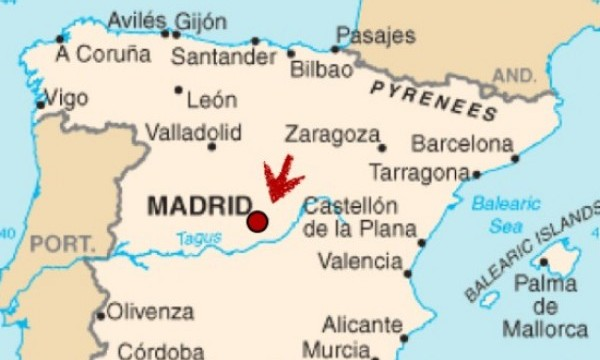 Map of Spain - Madrid