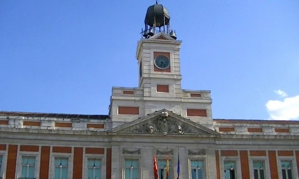 The Clock in Puerta Del Sol Madrid