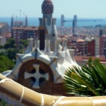Barcelona View from Benches of Guell Park