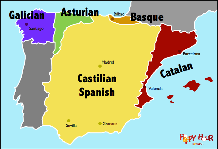 Languages In Spain Map.Did You Know They Speak More Than Just Spanish In Spain