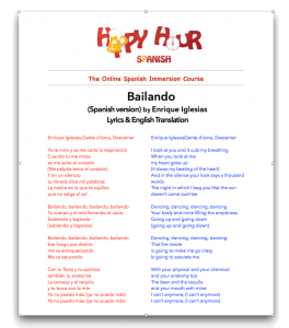Bailando Lyrics & Translation PDF img