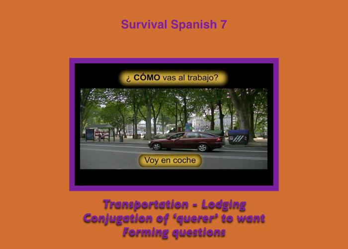 Survival Spanish Online Course for Travelers