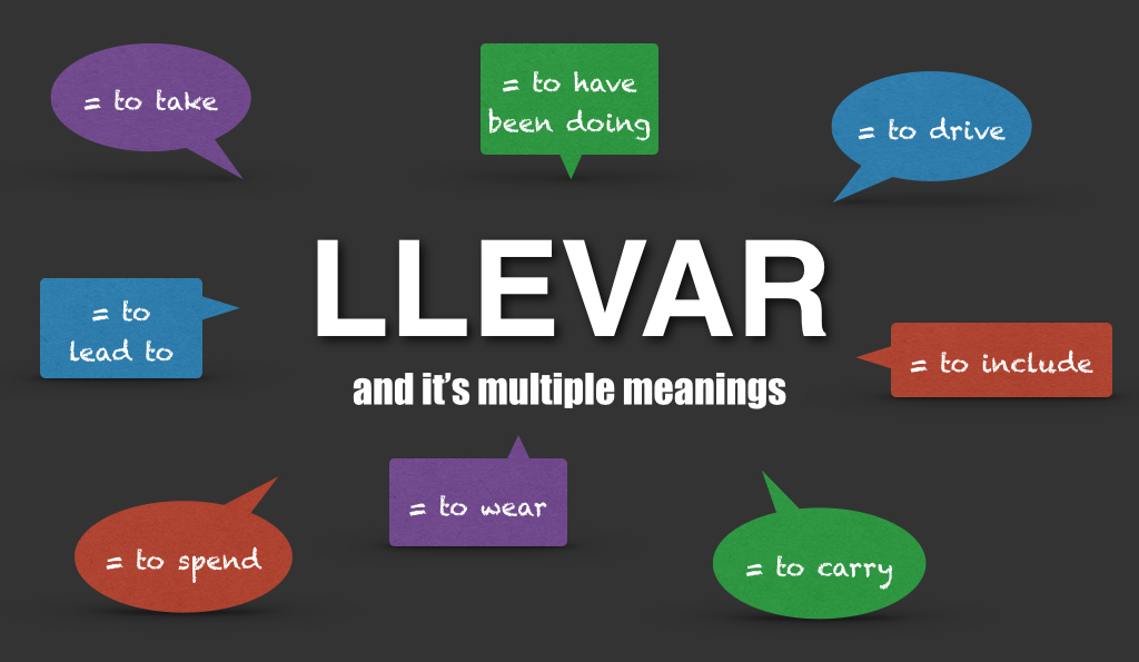 How to use the spanish verb llevar using ccuart Images