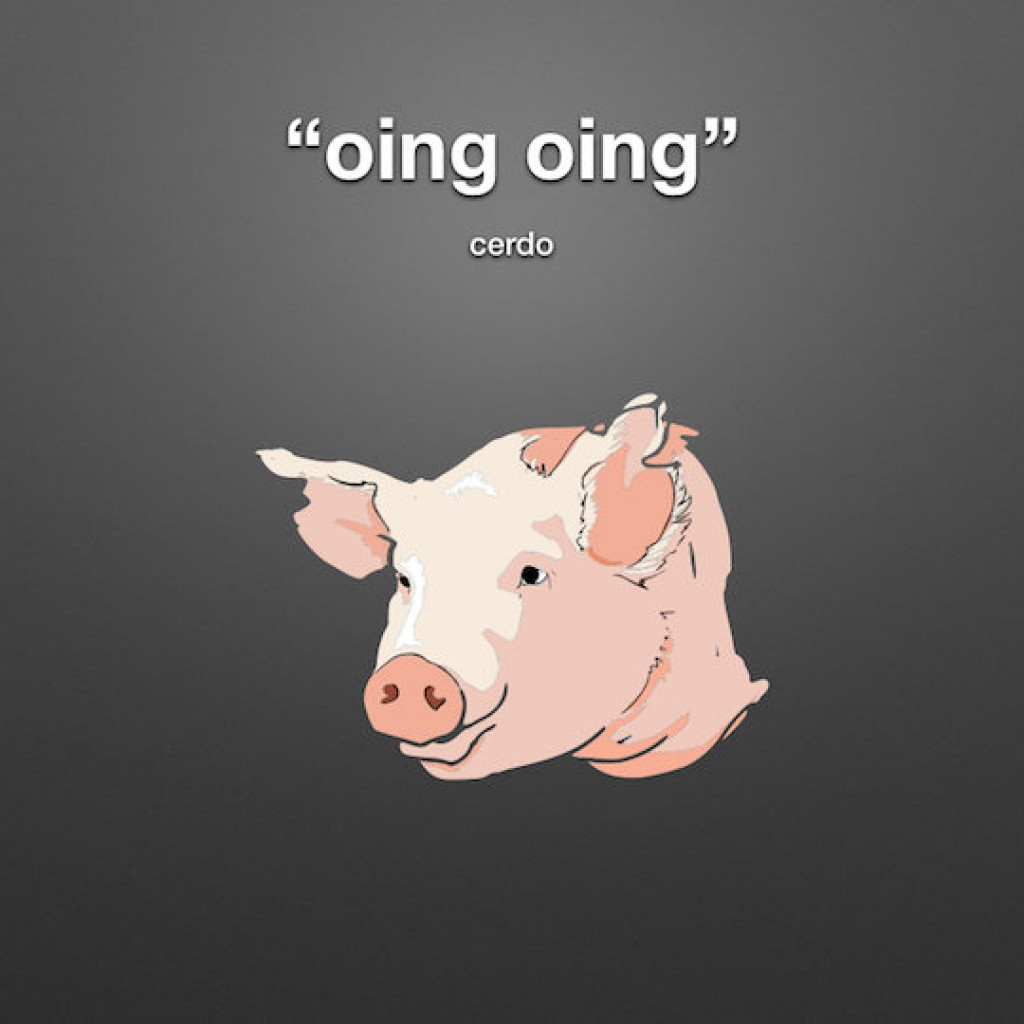 animal sounds in spanish pig oink
