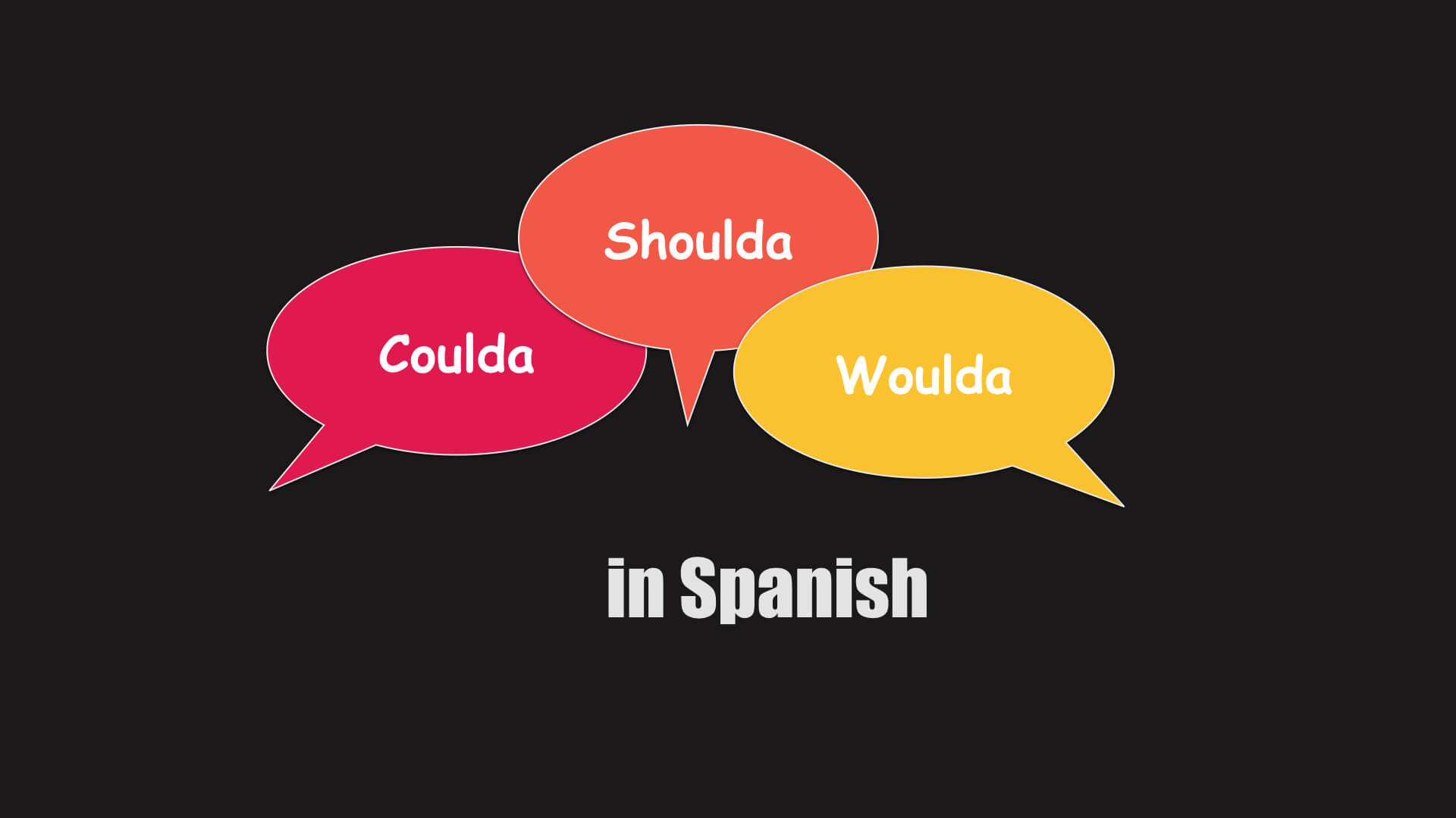 how to say could have should have would have in spanish