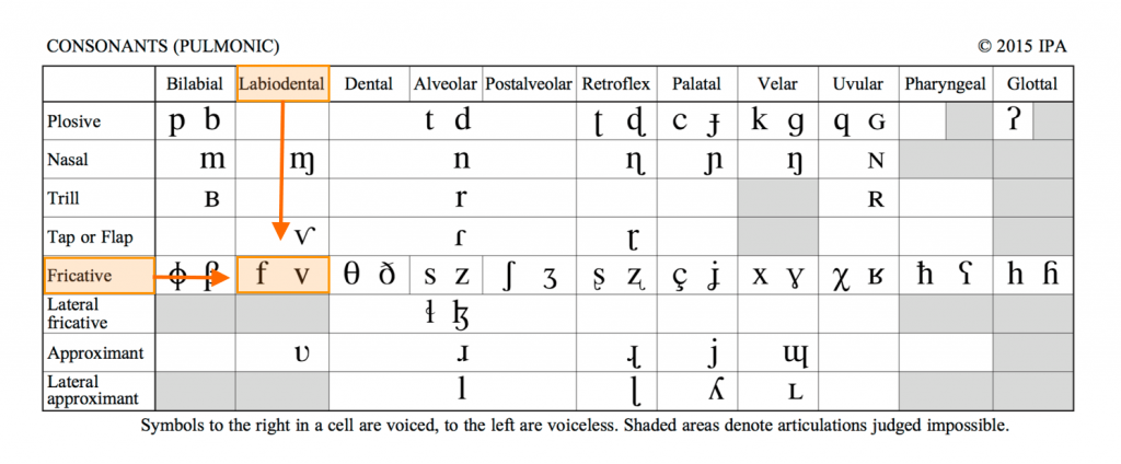 IPA Chart for Language Learners grid layout