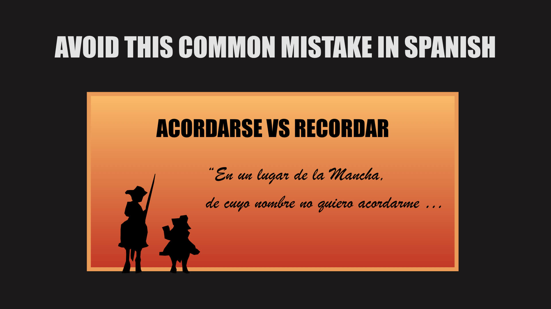 What the heck does ya really mean in spanish avoid this common mistake in spanish acordarse vs recordar kristyandbryce Images