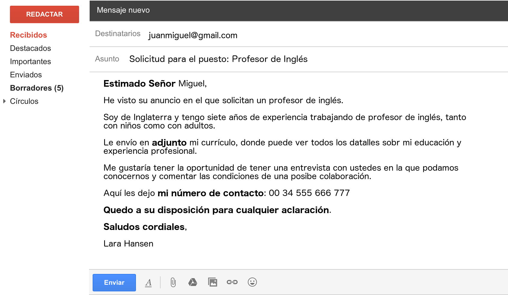 letters email in spanish formal example