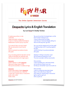 Despacito PDF Download
