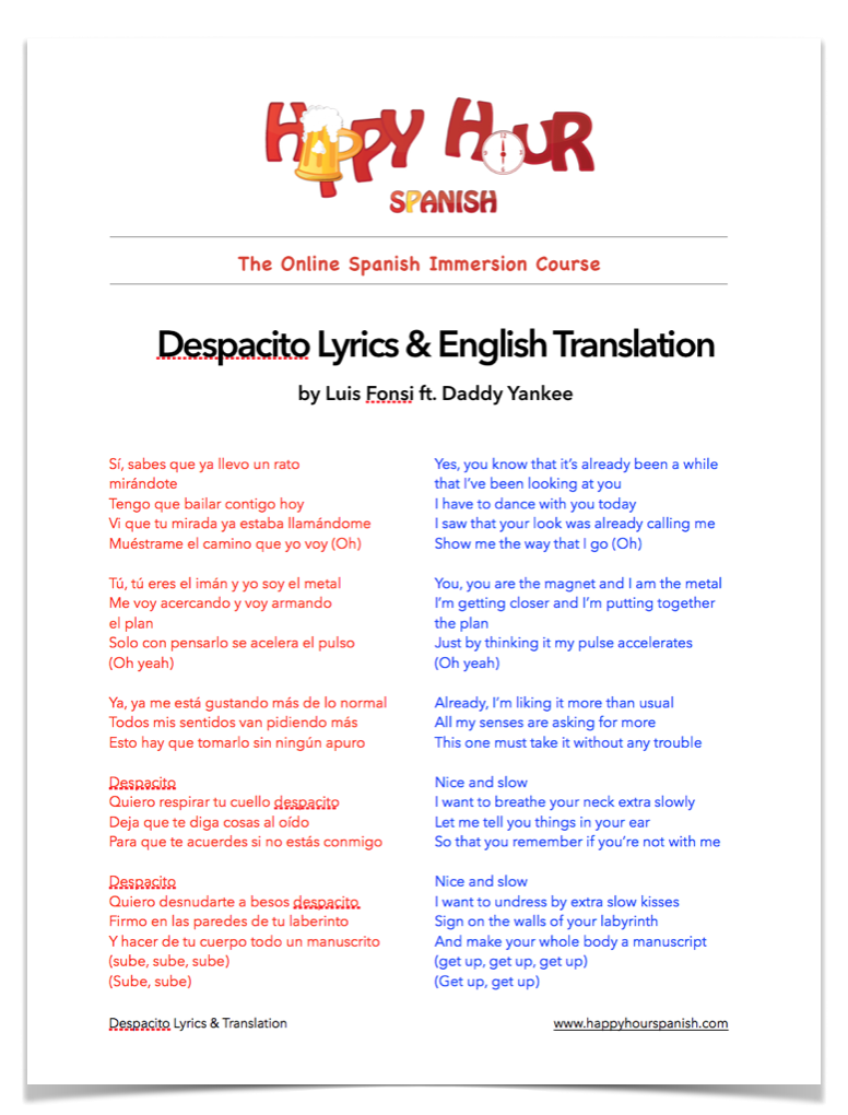 learn how to sing despacito lyrics
