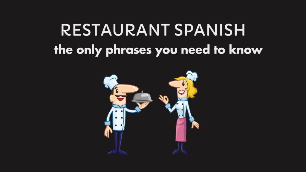 Spanish Phrases Restaurant